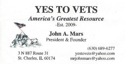 Yes to Vets Business Card